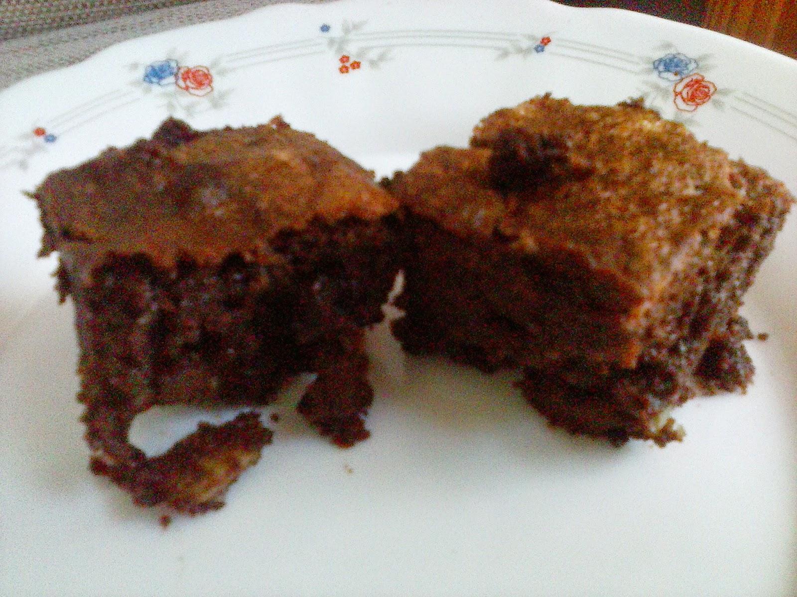 Receta brownie de chocolate con nueces