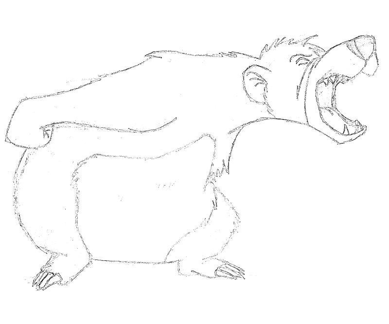 baloo coloring pages - photo#29