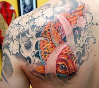 koi tattoo combination