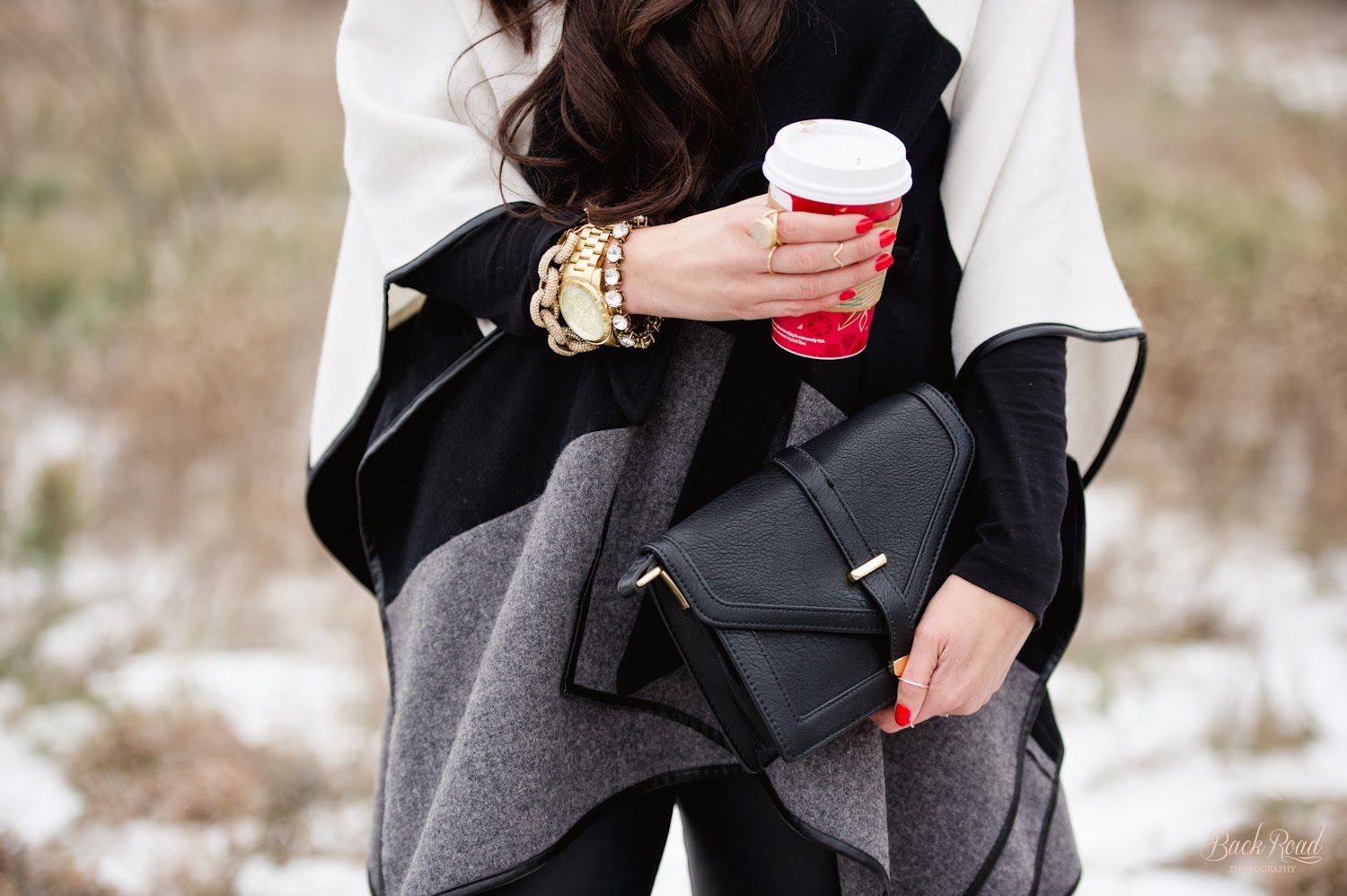 the sweetest thing blog, www.thesweetestthingblog, emily gemma, backroad photography, ann taylor, cape, over the knee boots, sole society, forever 21, michael kors runway watch, jcrew bracelet, jcrew, starbucks