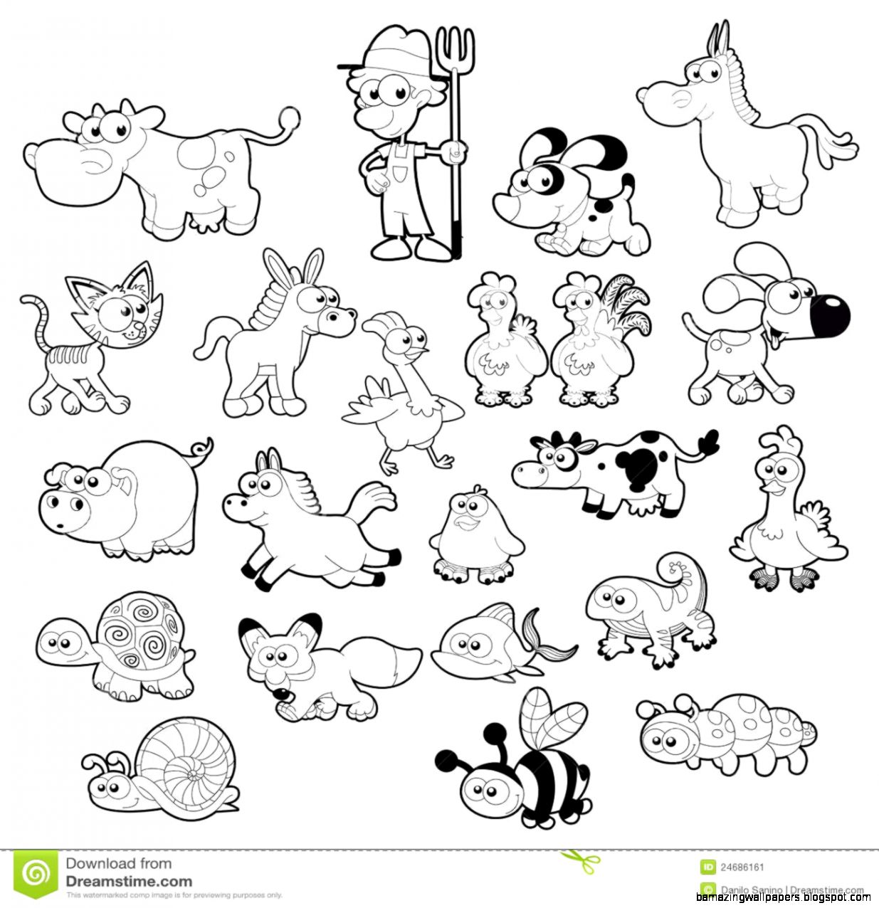 Animals Clipart Black And White Hd Background Wallpaper 27 HD