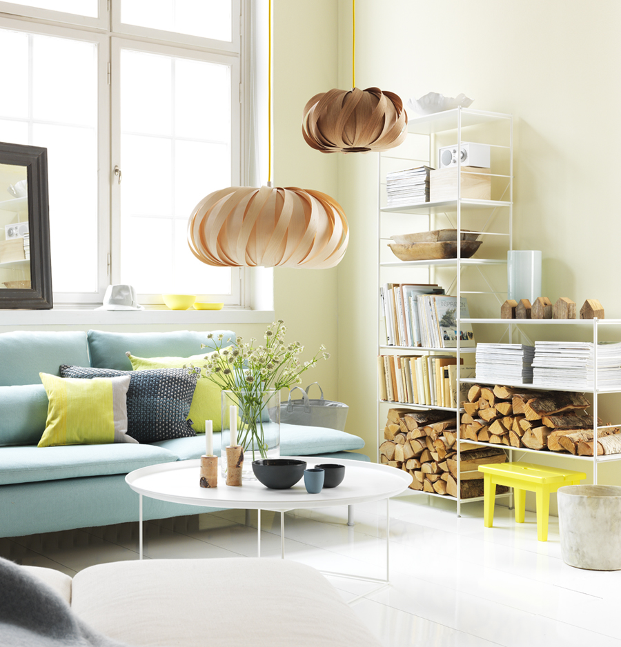 Nordic blends: nordic inspiration: woonkamer in pastelkleuren