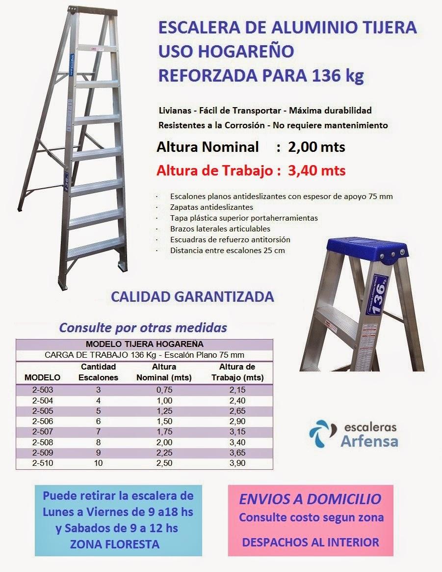 Escaleras arfensa escalera aluminio for Fabrica escaleras aluminio