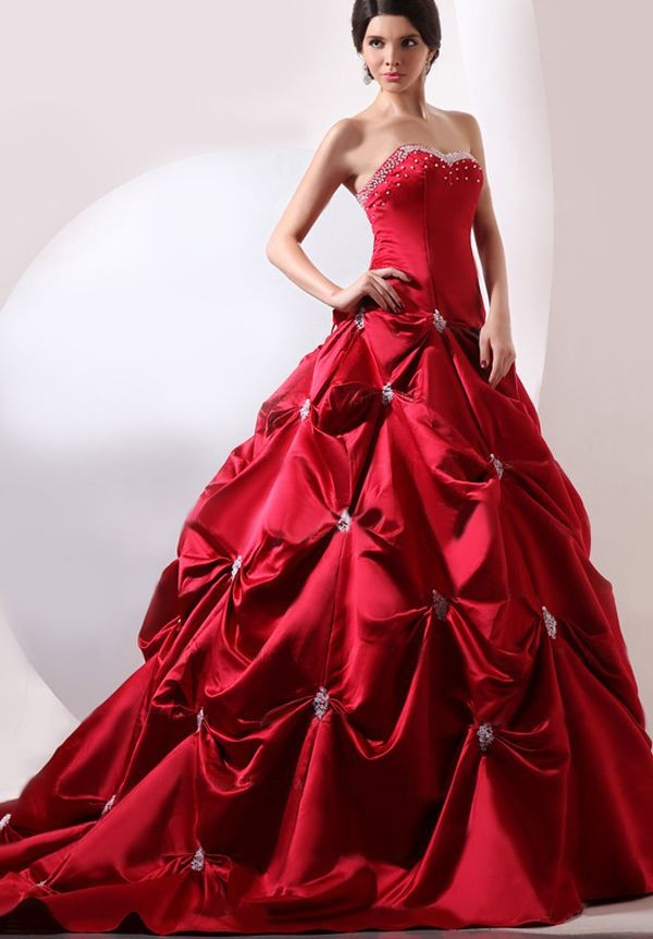 Hot Red Ball Gowns