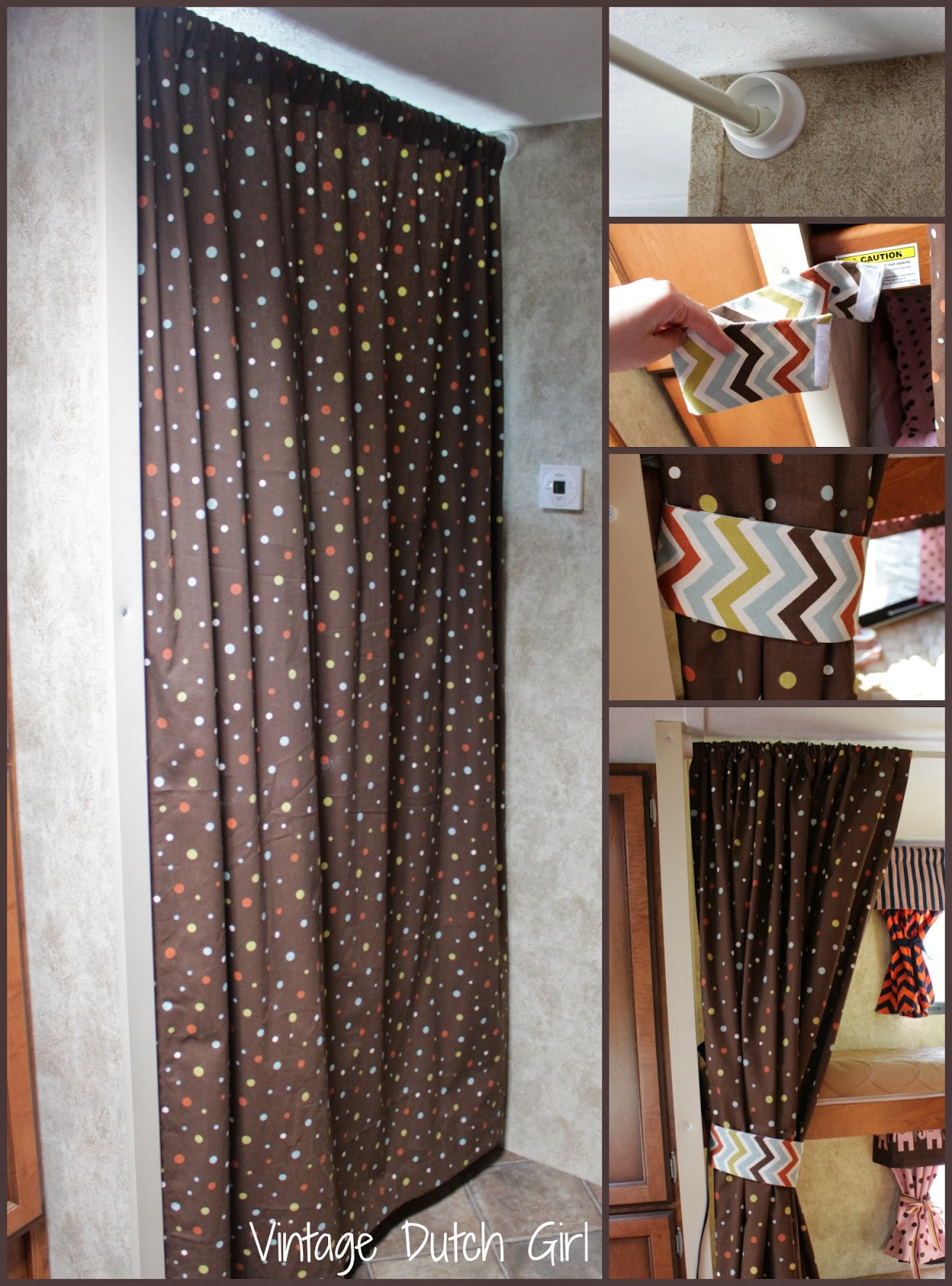 Bunk bed curtains - Travel Trailer Makeover Part 9 Bunk Beds And Windows