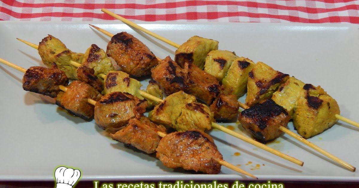 C mo hacer pinchos morunos o pinchitos recetas de cocina - Como preparar pinchos de pollo ...
