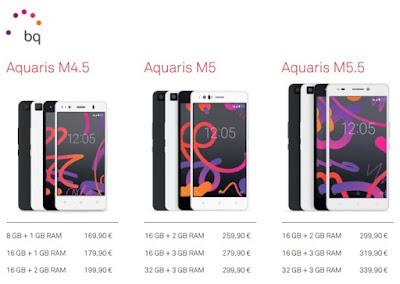 precios bq Aquaris M - bq aquaris