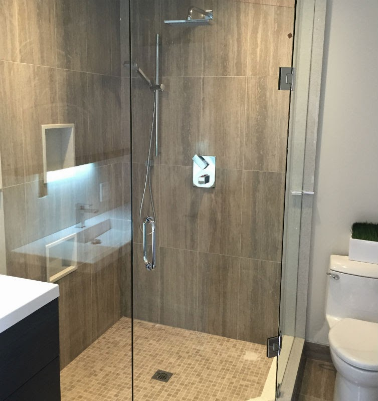 Oakville Glass Shower Renovation