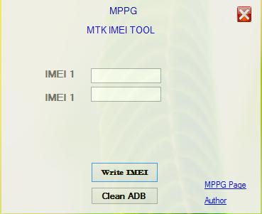 MPPG MTK IMEI Write Tool