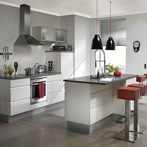 Stylish Grey Modern Kitchen Installation: Beyaz Mutfaklar