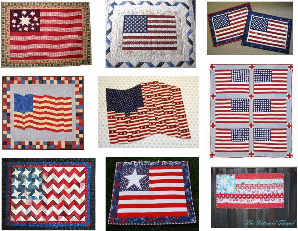 Patriotic Quilt Patterns For Free : Quilt Inspiration: Free Pattern Day: Patriotic Quilts