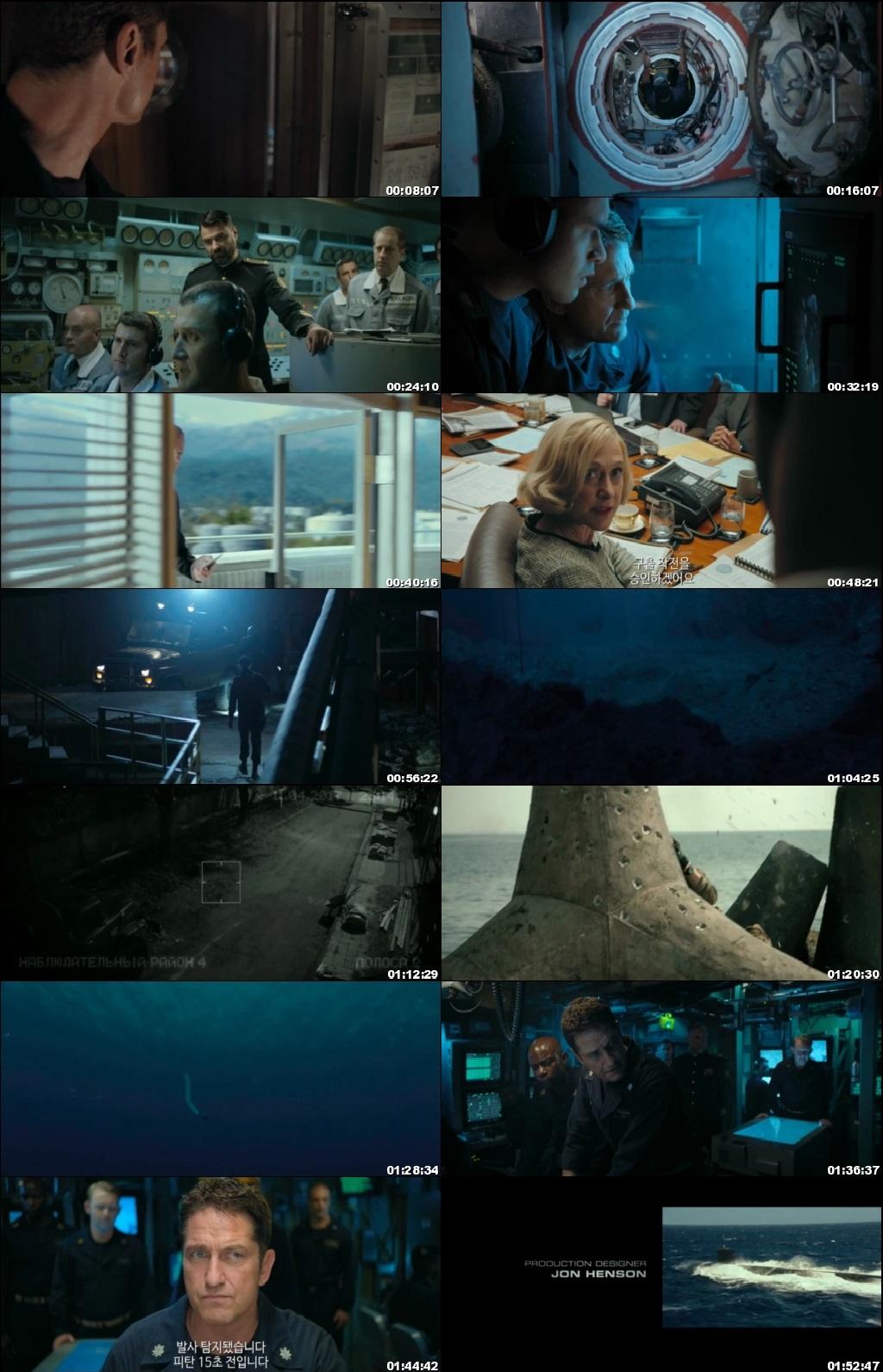 Screen Shot Of Hunter Killer 2018 Full Movie Download Free Watch Online 300MB