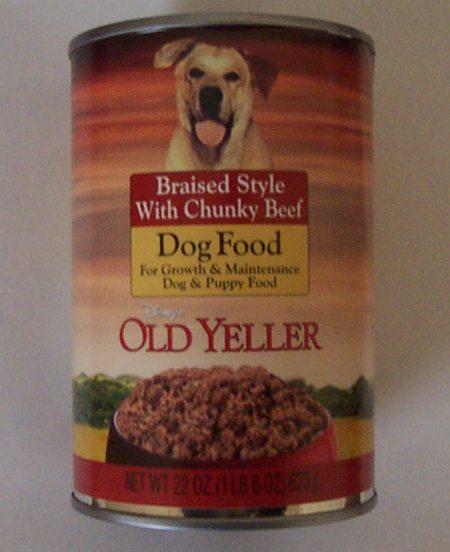 Old Yeller Disney Dog Food