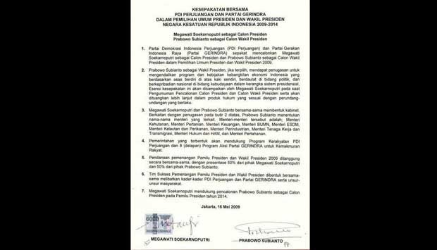 bukti surat batu tulis megawati prabowo