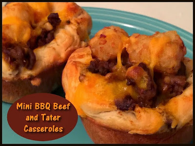 Moms Pantry: Recipe: Mini BBQ Beef and Tater Casseroles