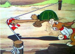 berteman ya kata kura kura sejak saat itu kelinci tidak sombong lagi
