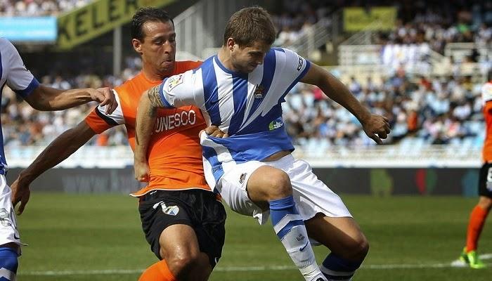 Malaga vs Real Sociedad en vivo