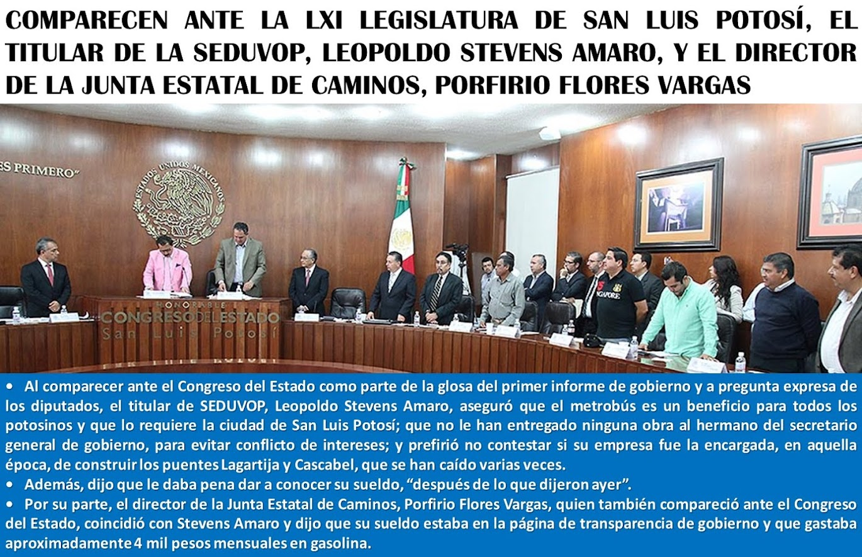 LA LXI LEGISLATURA DE SAN LUIS POTOSÍ: ACUERDOS A TU FAVOR.