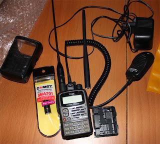 Amatörradio ICOM IC-E90 plus tillbehör säljes