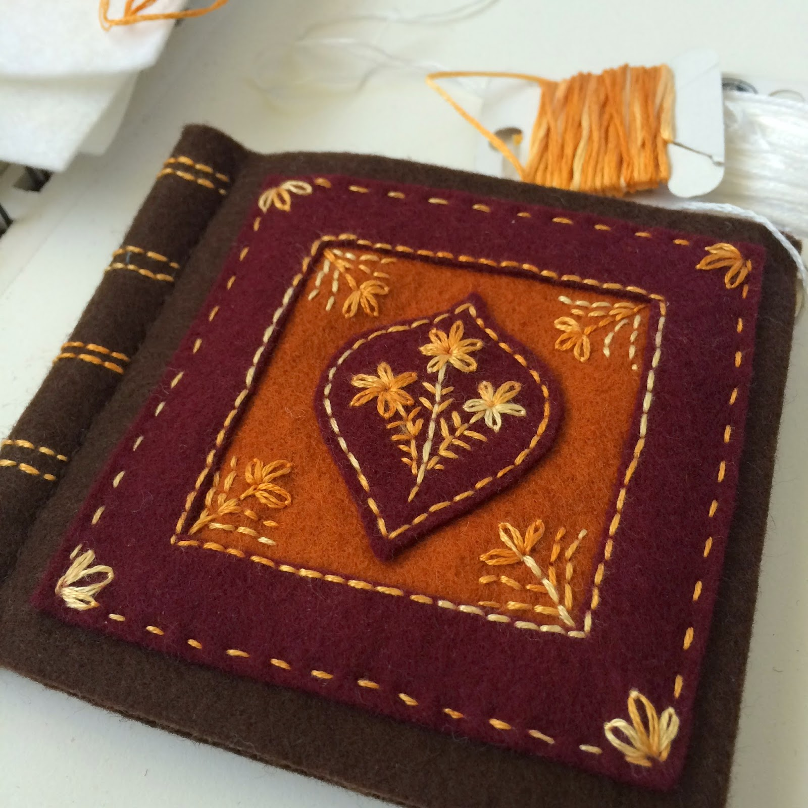 old book style needle book