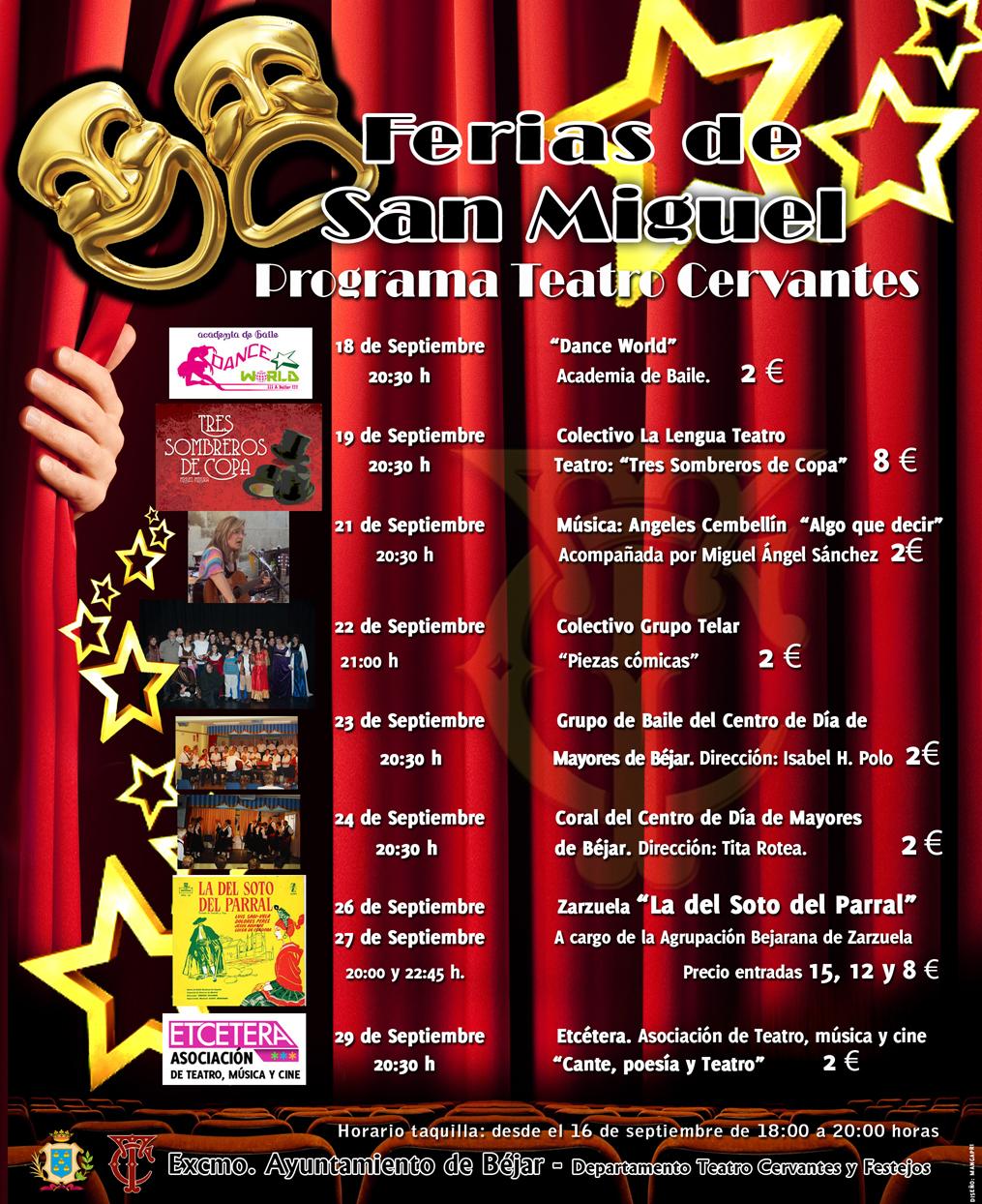 cartel con programa de fiestas patronales