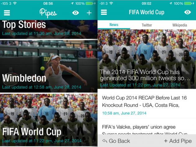 Pipes review: A great app to read the news