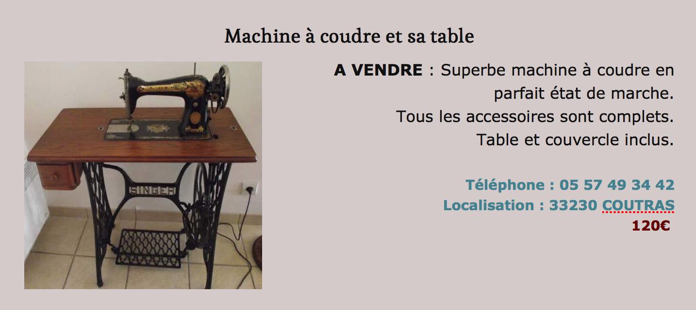 Votre coin brocante machine coudre et sa table tout pour la d co peinture astuces diy - Table pour brocante ...