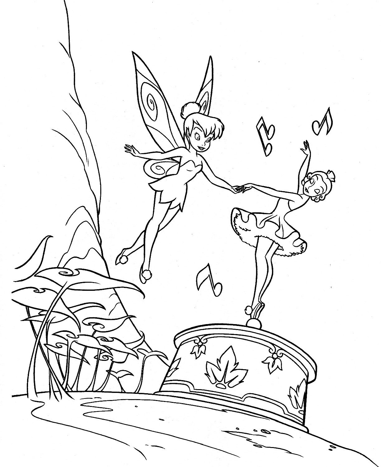 cartoons coloring pages tinkerbell coloring pages
