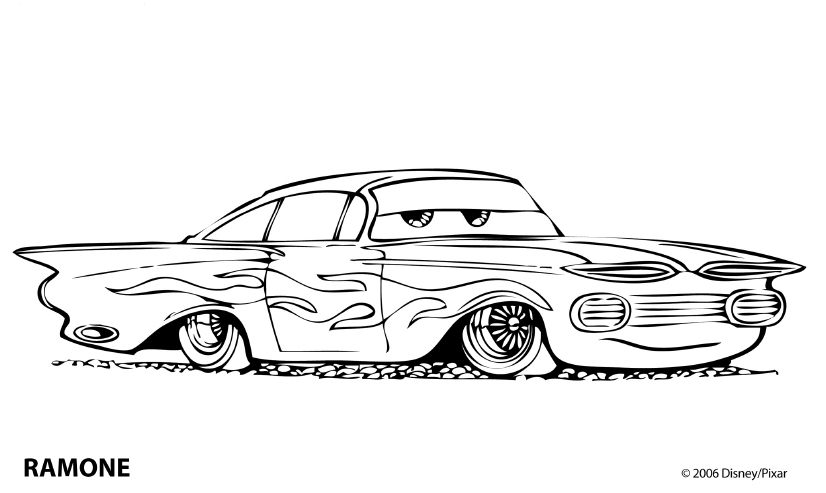 LAMINAS PARA COLOREAR  COLORING PAGES Cars para colorear y