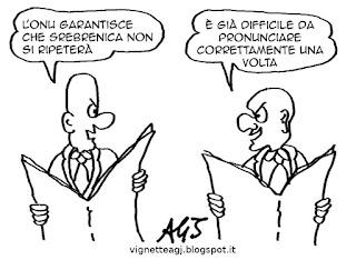 ONU, Srebrenica, satira vignetta