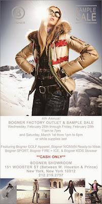Bogner Warehouse Sale