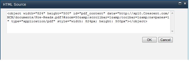 sharepoint pdf content editor web part