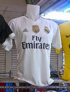 Gambar jersey real madrid home terbaru musim 2015/2016, kumpulan gambar jersey-jersey baju bola musim depan