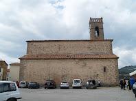 Façana de llevant de l'església de Santa Maria d'Olvan