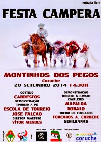 Montinhos dos Pegos(Coruche)- Festa Campera no dia 20 Setembro 2014