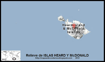 ISLAS HEARD Y McDONALD, Mapa de Relieve de ISLAS HEARD Y McDONALD, Google Maps