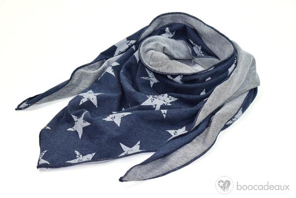 boocadeaux:Halstuch Sterne blau