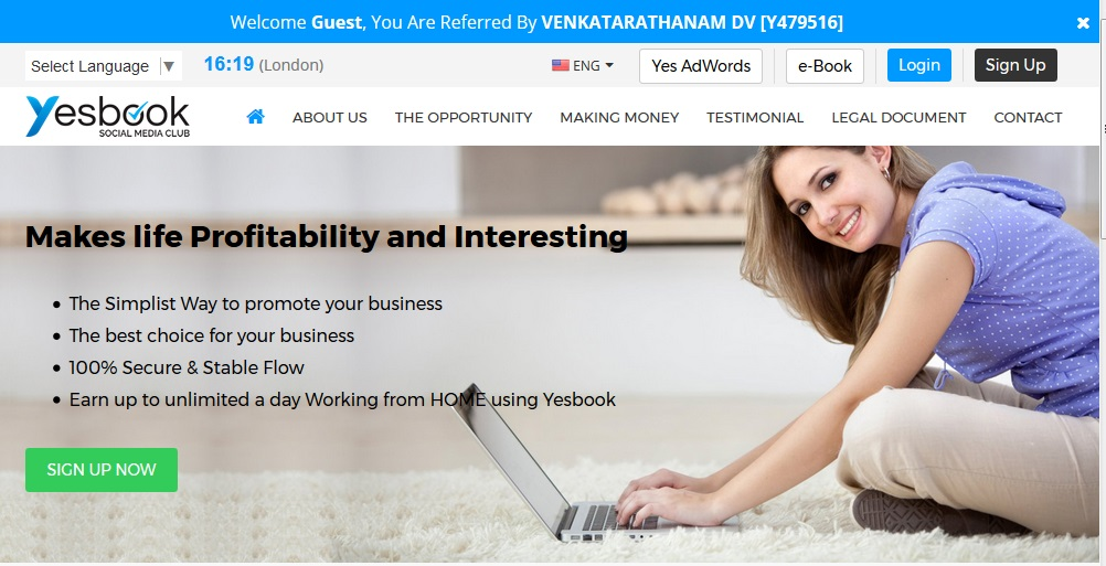 EARN $500/DAY WITH YESBOOK