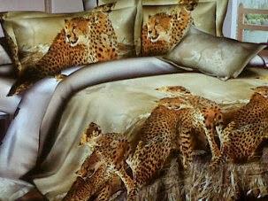 Sprei 3D Leopard Katun Lokal