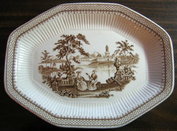 Large Brown Toile Decorative Platter & Decorative Dishes Plates for Home Decor - News