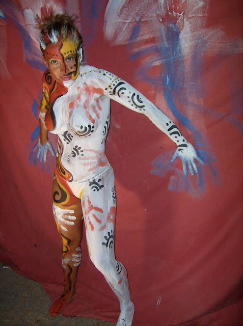 full paint on body sexy girl