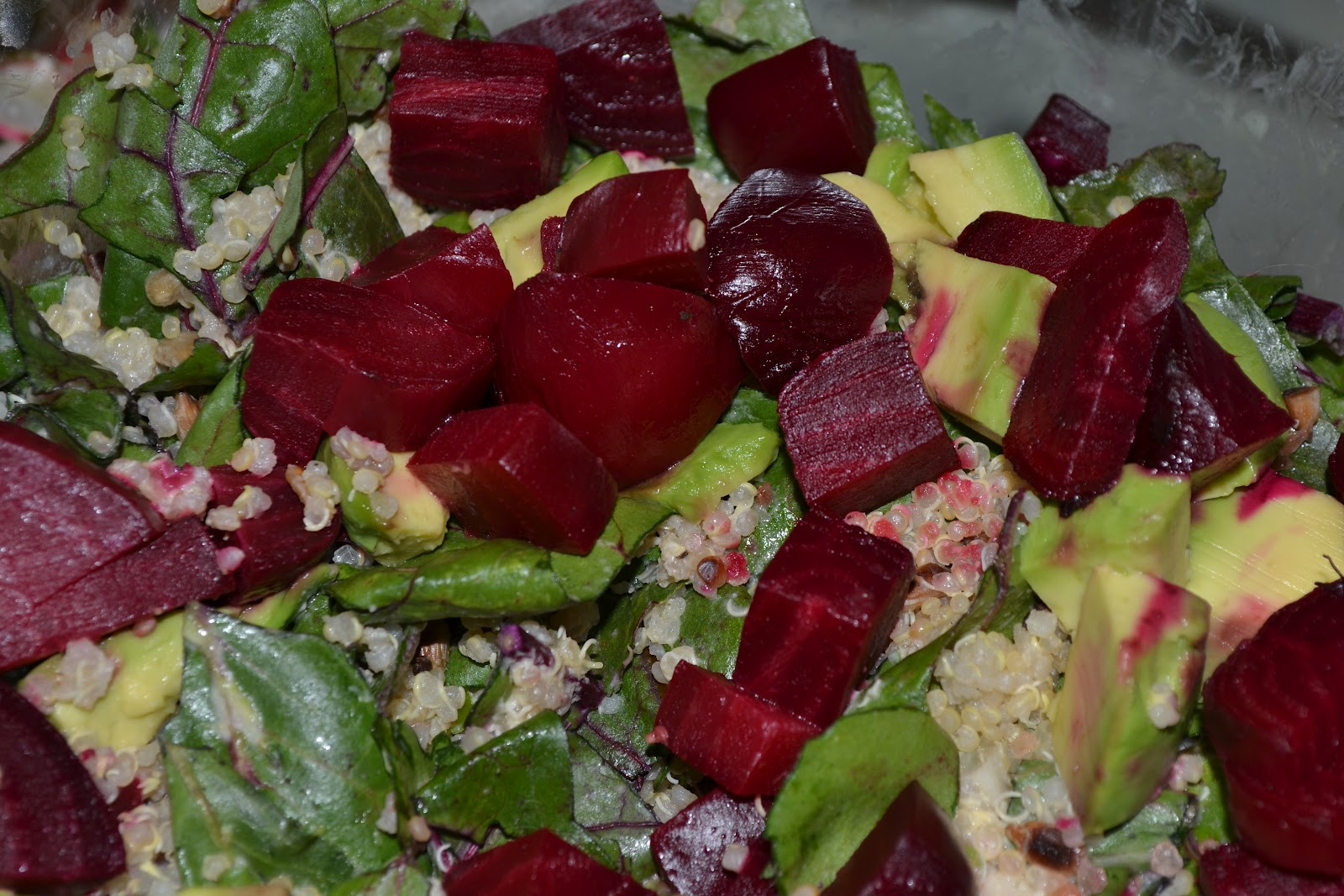 Upbeet Living: Beet Green Chopped Salad