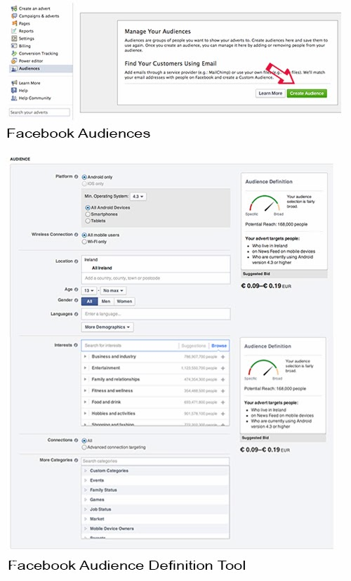 Facebook Adverts: How to create an Audience for our App Ad.