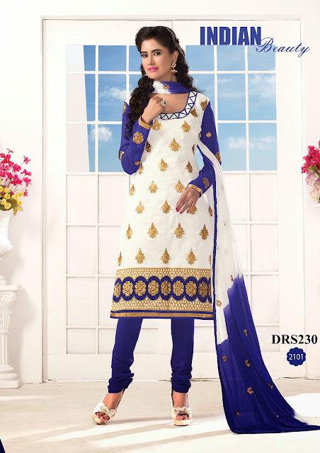 Buy Online Fancy Chanderi Cotton Dress Material