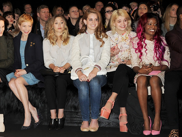 Michelle Williams, Elizabeth Olsen, Lana Del Rey, Azaelia Banks