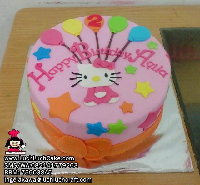 Hello Kitty 2D Fondant Daerah Surabaya - Sidoarjo