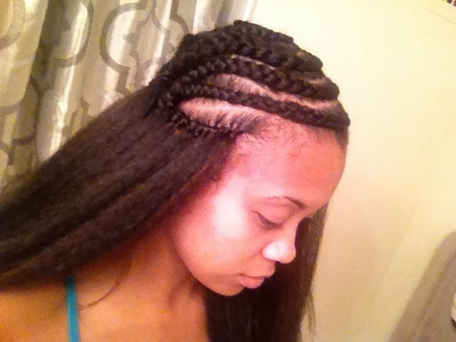 Crochet Hair Styles With Kanekalon Hair : Kanekalon Crochet Braids With Leave Out I used a different braid