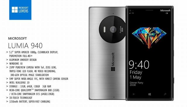Kedatangan Microsoft 940,940XL dan 840,Spesifikasi