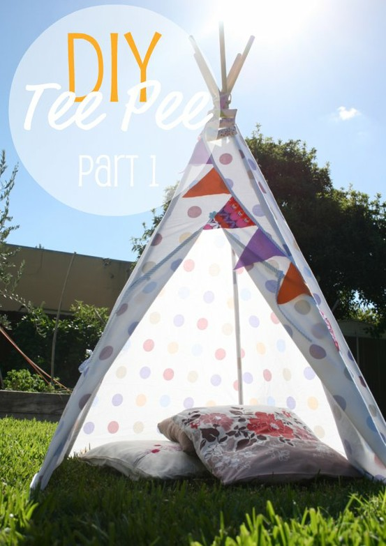 max me diy teepee pinterest challenge 4. Black Bedroom Furniture Sets. Home Design Ideas