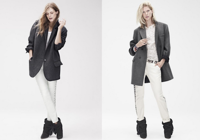 isabel marant, H&M, hm, isabel marant for H&M, lookbook, printed blouse, collection, leather pants, isabel marant boots